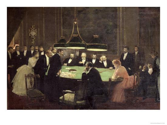 The Gaming Room at the Casino, 1889-Jean B?raud-Giclee Print