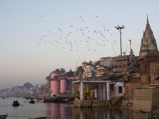 The Ganges River and Ghats of Varanasi, Uttar Pradesh, India, Asia--Photographic Print