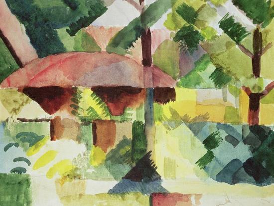 The Garden, 1914-Auguste Macke-Giclee Print
