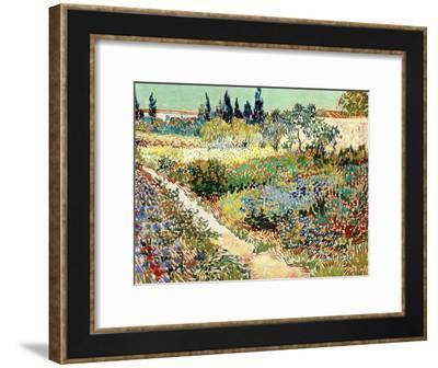 The Garden at Arles, 1888-Vincent van Gogh-Framed Giclee Print