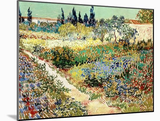 The Garden at Arles, 1888-Vincent van Gogh-Mounted Giclee Print