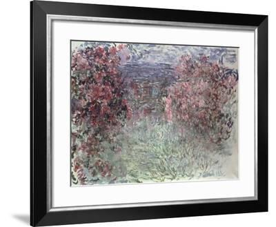 The Garden at Giverny-Claude Monet-Framed Giclee Print