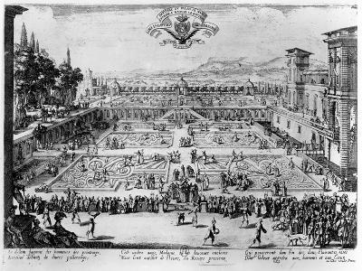 The Garden at the Palais De Nancy, Dedicated to the Duchess of Lorraine, 1624-Jacques Callot-Giclee Print