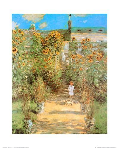 The Garden at Vetheuil-Claude Monet-Art Print