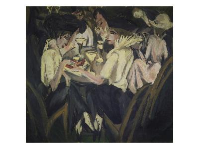 The Garden Cafe, 1914-Ernst Ludwig Kirchner-Giclee Print