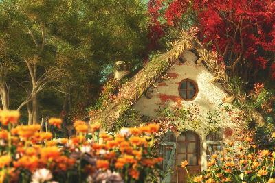 The Garden Cottage, 3D Computer Graphics-Atelier Sommerland-Art Print