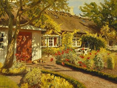 The Garden Cottage-Olaf Viggo Peter Langer-Giclee Print