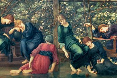 The Garden Court, from the Briar Rose Series, C.1894-Edward Burne-Jones-Giclee Print