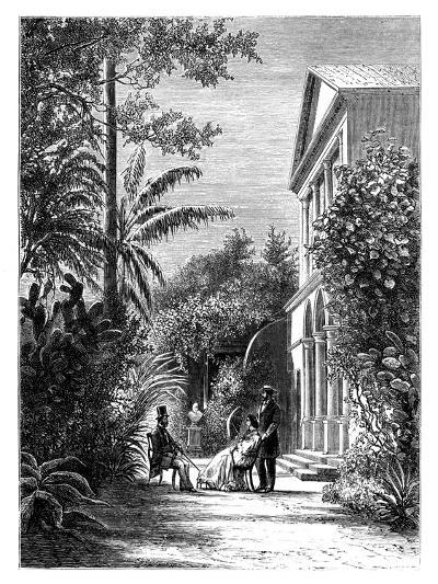 The Garden of a City House, 19th Century-H Stock-Giclee Print