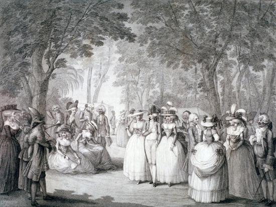 The Garden of Carlton House, London, 1784-Henry William Bunbury-Giclee Print