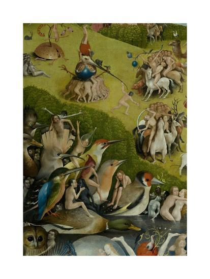 The Garden of Earthly Delights, 1490-1500-Hieronymus Bosch-Giclee Print