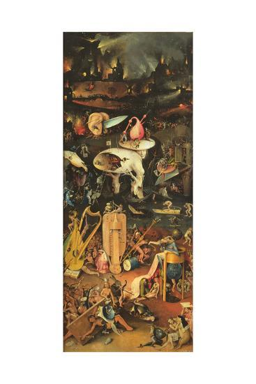 The Garden of Earthly Delights, Detail of Right Panel, C.1500 (Detail of 3425)-Hieronymus Bosch-Giclee Print
