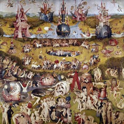 The Garden of Earthly Delights: Ecclesia's Paradise, 1503-1504, Dutch School-Hieronymus Bosch-Giclee Print