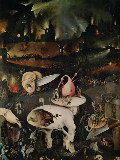 The Garden of Earthly Delights, Hell, Right Wing of Triptych, circa 1500-Hieronymus Bosch-Giclee Print
