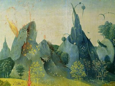 The Garden of Eden, Detail from the Right Panel of the Garden of Earthly Delights, c.1500-Hieronymus Bosch-Giclee Print