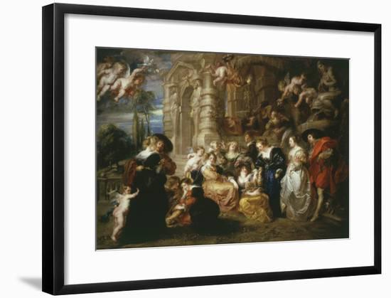 The Garden of Love 1633 198X173Cm-Peter Paul Rubens-Framed Giclee Print