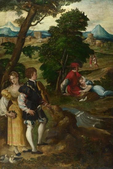 The Garden of Love, C. 1535-1550-Bernardino  da Asola-Giclee Print