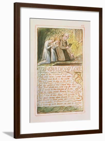 The Garden of Love: Plate 44 from Songs of Innocence and of Experience C.1815-26-William Blake-Framed Giclee Print