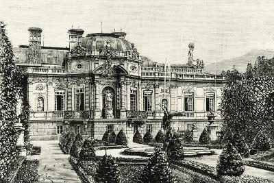 The Garden of Ludwig II of Bavaria's Linderhof Castle, Germany 19th Century Engraving--Giclee Print
