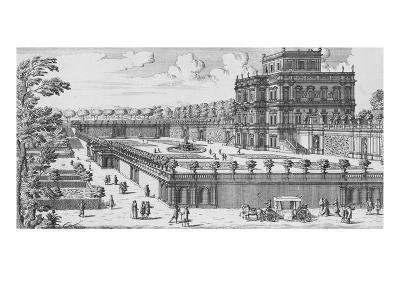 The Garden of Rome; Li Giardini Di Roma-Giovanni Battista Falda-Giclee Print