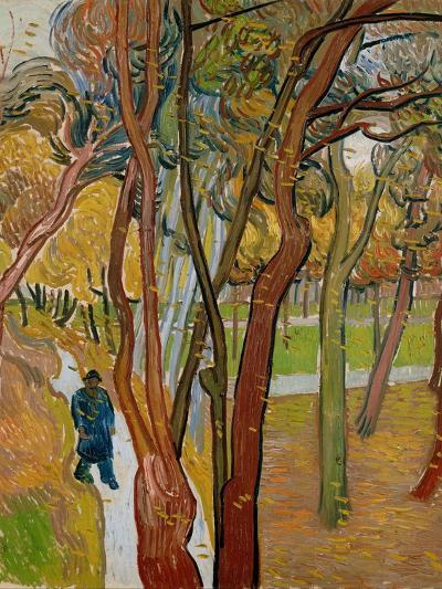 The Garden of Saint Paul's Hospital (The Fall of the Leave), 1889-Vincent van Gogh-Giclee Print