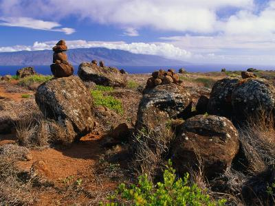 The Garden of the Gods, Lanai, Hawaii, USA-Ann Cecil-Photographic Print