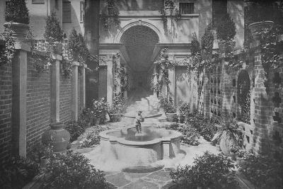 The garden of the house of Benjamin Wood, New York, 1926--Photographic Print
