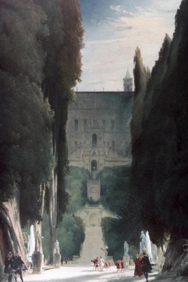 The Garden of the Villa D'Este, 1830-Karl Blechen-Giclee Print