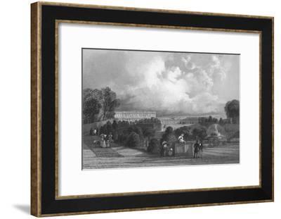 'The Garden of Versailles', 1839-J Davis-Framed Giclee Print