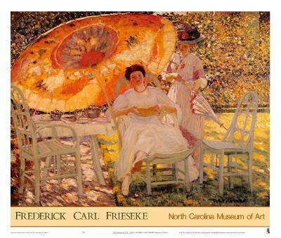 The Garden Parasol, 1909-Frederick Carl Frieseke-Art Print