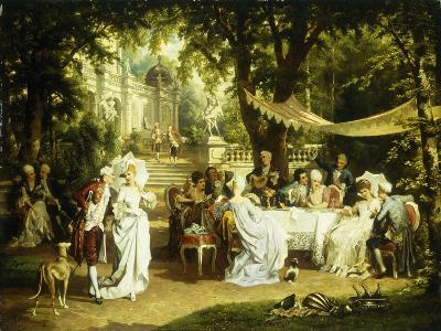 The Garden Party-Karl or Carl the Younger Schweninger-Giclee Print