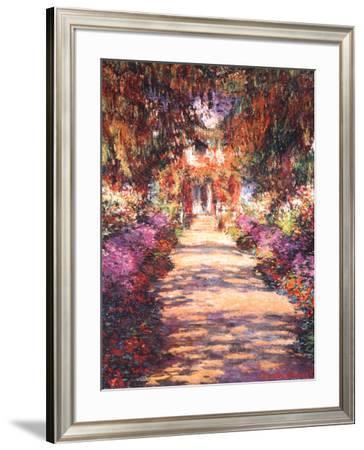 The Garden Path-Claude Monet-Framed Art Print