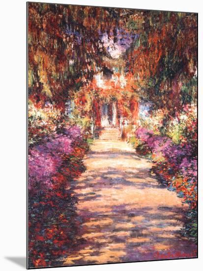 The Garden Path-Claude Monet-Mounted Art Print