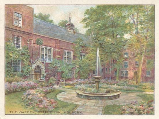 'The Garden, Staple Inn, Holborn', 1929-Unknown-Giclee Print