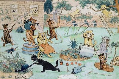The Gardeners-Louis Wain-Giclee Print