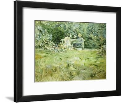 The Gardening Lesson, 1886-Berthe Morisot-Framed Giclee Print
