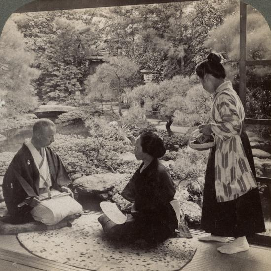 The Gardens of the Home of Mr Y Namikawa, Leader in the Art Industries, Kyoto, Japan, 1904-Underwood & Underwood-Photographic Print