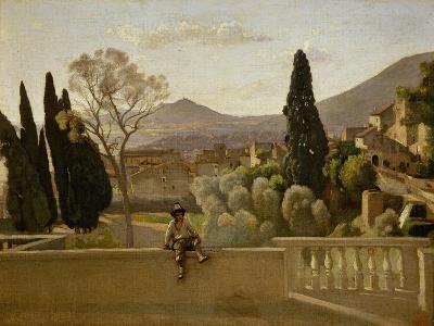 The Gardens of Villa D'Este, 1843-Jean-Baptiste-Camille Corot-Giclee Print