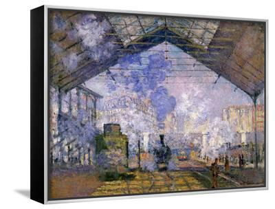 The Gare St. Lazare, 1877-Claude Monet-Framed Canvas Print