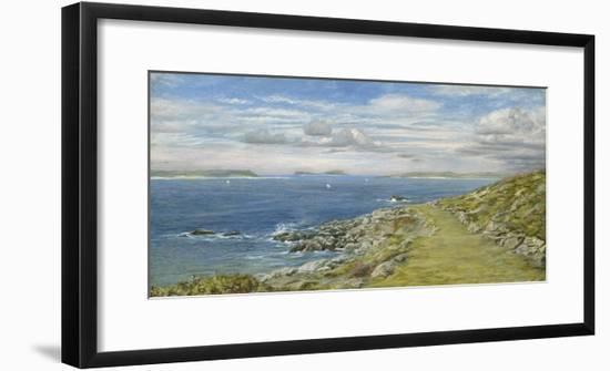 The Garrison Walk, St. Mary's, 1873 (Oil on Board)-John Brett-Framed Giclee Print
