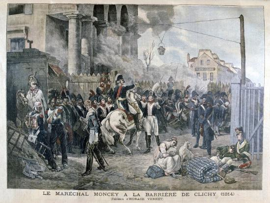 The Gate at Clichy During the Defence of Paris, 30th March 1814-Horace Vernet-Giclee Print