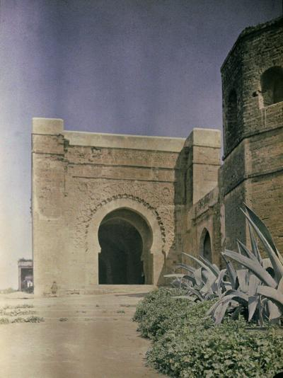 The Gate at the Walls of the Kasbah of Oudaia in Rabat, Marocco-Henrie Chouanard-Photographic Print