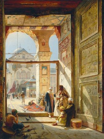 The Gate of the Great Umayyad Mosque, Damascus, 1890-Gustave Bauernfeind-Giclee Print