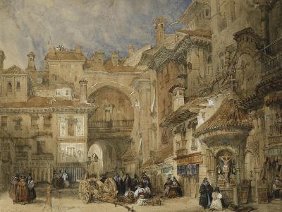 The Gate of the Viva Rambla, Granada, 1834-David Roberts-Giclee Print