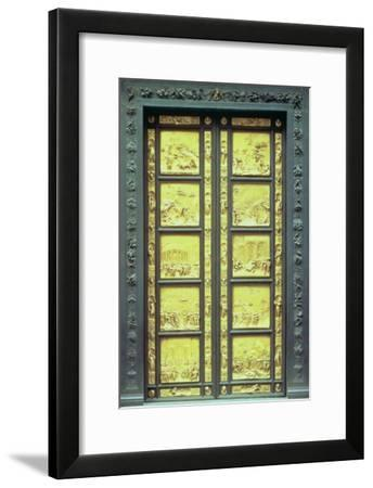 The Gates of Paradise Comprising 10 Relief Panels Depicting Old Testament Scenes 1425-52--Framed Giclee Print
