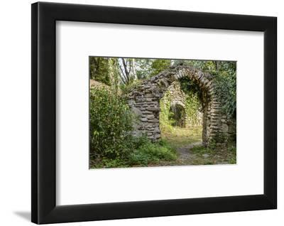 The gates to the ancient church (7th century) at the Zegaani Monastery, Georgia-Sergey Orlov-Framed Photographic Print