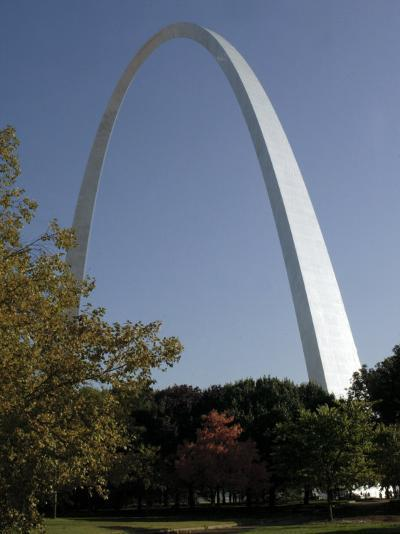 The Gateway Arch Rises High Above the Grounds of the Jefferson National Expansion Memorial--Photographic Print