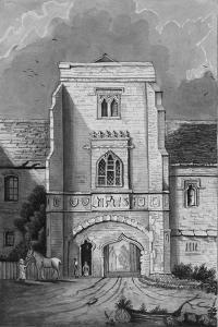 The Gateway of the Palace at Cawood (Cawood Castle), 1830