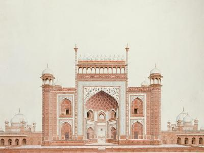The Gateway of the Taj, Agra School, circa 1815--Giclee Print