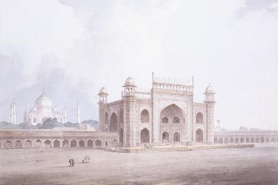 The Gateway of the Taj Mahal, Agra, Uttar Pradesh-Thomas & William Daniell-Giclee Print